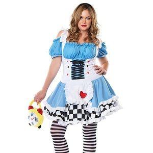 Miss Wonderland Plus Size 1x/2x Halloween Costume